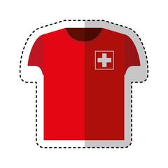 shirt uniform switzerland team vector illustration design