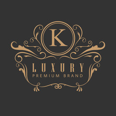 Logo luxury elegant design vintage label vector illustration