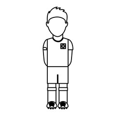 switzerland team player soccer vector illustration design