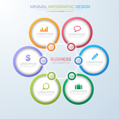 Infographic Elements with business icon on full color background  process or steps and options workflow diagrams,vector design element eps10 illustration