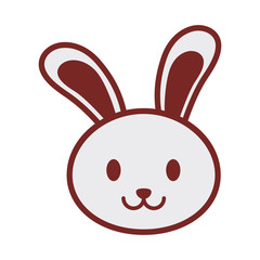 cute bunny face image vector illustration eps 10