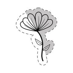 cute flower bloom cut line vector illustraiton eps 10