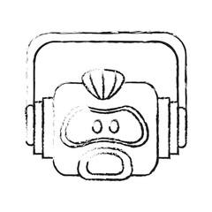 robot technology icon image vector illustration design