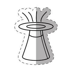 hat magician object cut line vector illustration eps 10