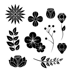 Wall Mural - beautiful spring flowers icon