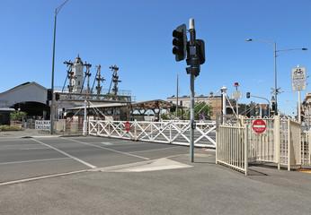 The Ballarat Railway Station (1862) has the largest surviving interlocking swing gates in Victoria, Australia