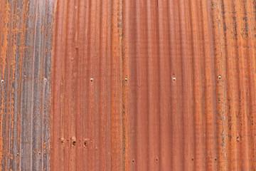 rusty corrugated iron fence background