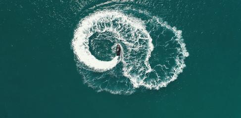Playing on a jetski