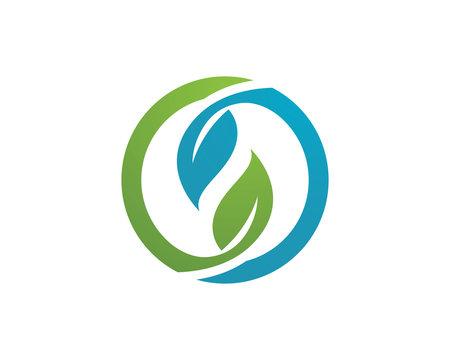 Leaf green vector nature logo