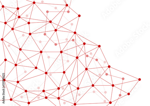dark red abstract layered networking web horizontal background