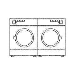 two washing machine appliance vector illustration eps 10