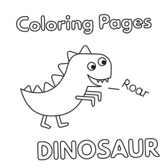 Cartoon Dinosaur Coloring Book