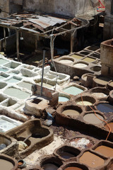 Fez leather tannery