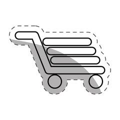 shopping cart commerce online cut line vector illustration eps 10