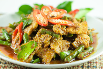 spicy fried pork