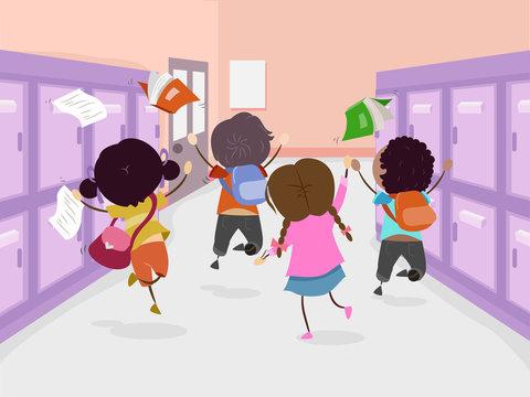 Stickman Kids School Ends Jump