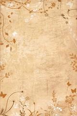Beige floral border  with floral frame design