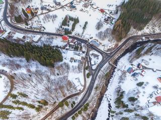 Village from bird's eye view