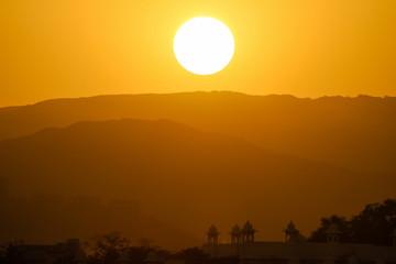 Sunset Lake Pichola, Udaipur, Rajasthan, India