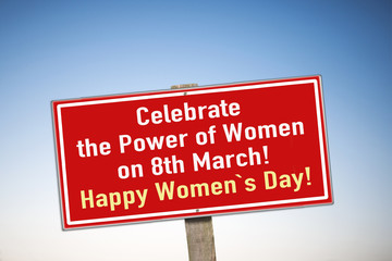 sign plate Women`s Day