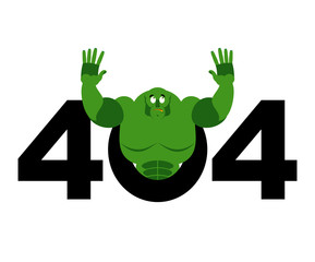 error 404 robot surprise page not found template for web site