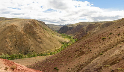 "The red mountains ""Mars"". The Republic of Altai"