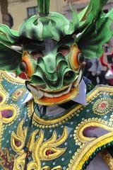 A masked dancer, Cuzco, Peru.