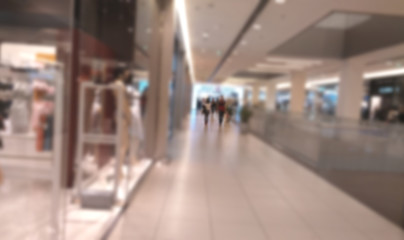 Shopping center blurred