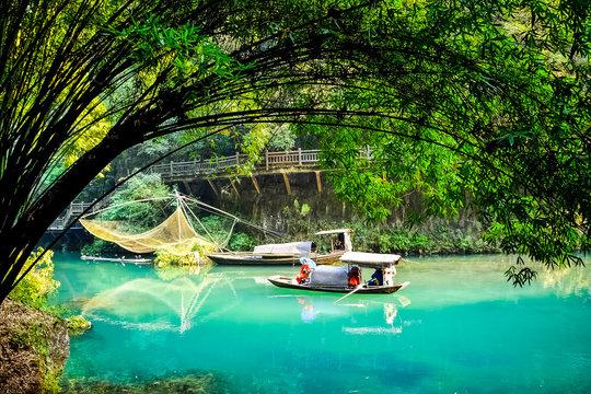 Geisha girl, Chinese fishing boat.