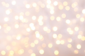 Festive background with bokeh lights. Christmas and New year