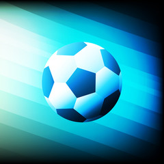 Blue lights football soccer design vector illustration