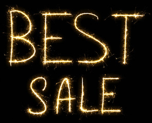 Text Best Sale made by sparkler