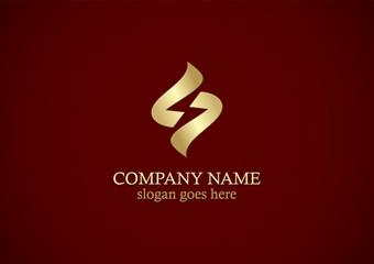 shape gold letter s company logo