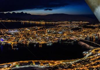 Tromso, Norway by night