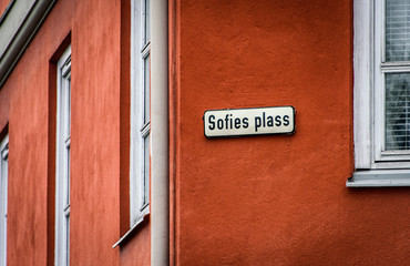 Street sign, Oslo