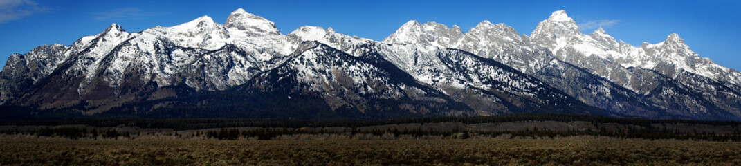 View of Teton Mountain Range Wyoming