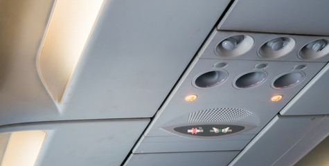 Air control knobs on the plane