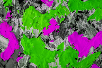green white black background painted large strokes