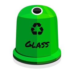 Recycling / glass - fototapety na wymiar