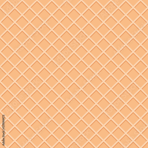 "Ice Cream Cones Background Royalty Free Vector Image: ""Wafer Seamless Pattern Background. Ice Cream Cone Surface"