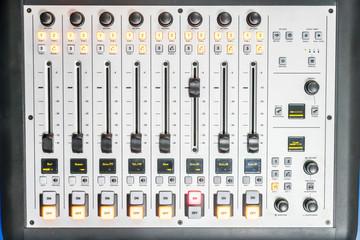 mixer at the radio station