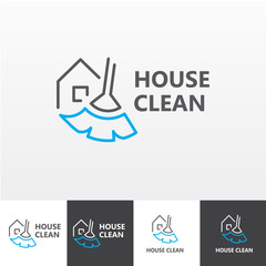 House cleaning services vector logo eps