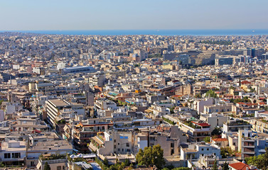 View of Athens city in the morning in Greece
