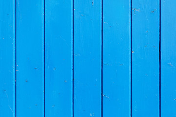 Blue painted wooden wall