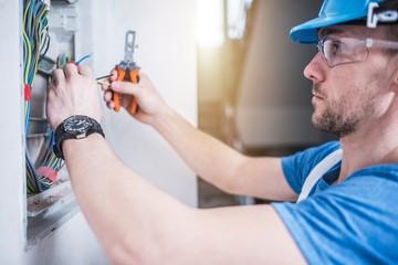 Electric Technician Job Wall mural