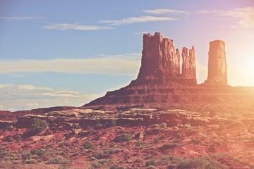 Aluminium Prints Salmon Sunny Arizona Landscape