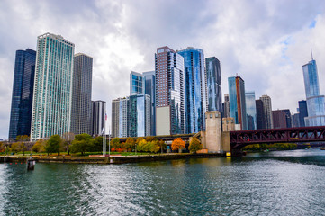 overview of chicago city in the state of Illinois