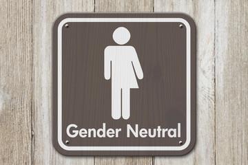 Transgender sign with text Gender Neutral
