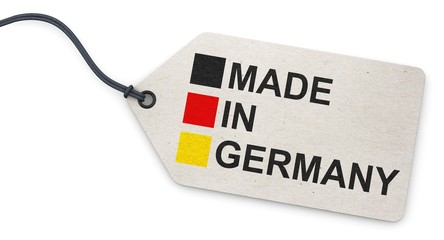 Anhänge-Etikett - weiß - Made in Germany