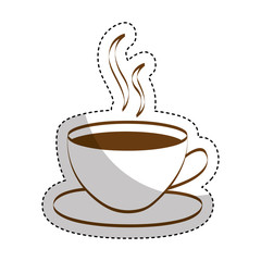colombian coffee cup drink vector illustration design